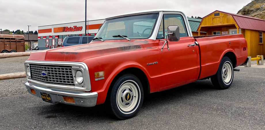 1972 Chevrolet C10 2WD Pick Up Truck Stick Shift Motors Cody WY